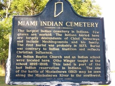 Miami Indian Cemetery Marker image. Click for full size.