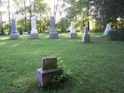 Markers in the Miami Indian Cemtery. image. Click for full size.