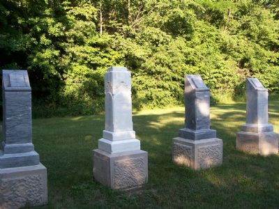 Markers in the Miami Indian Cemetery. image. Click for full size.