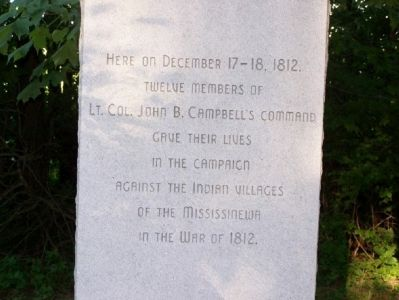 Monument placed in honor of the U.S. Troops image. Click for full size.