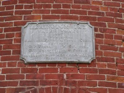 Dedication plaque over the door image. Click for full size.