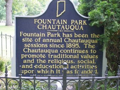 Fountain Park Chautauqua Marker image. Click for full size.