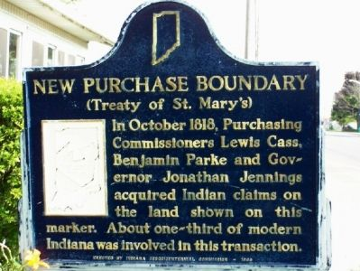 Close up of New Purchase Boundary (Treaty of St. Mary's) Marker image. Click for full size.