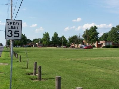 Field next to the New Purchase Boundary (Treaty of St. Mary's) Marker. image. Click for full size.