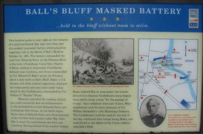 Ball's Bluff Masked Battery Marker image. Click for full size.