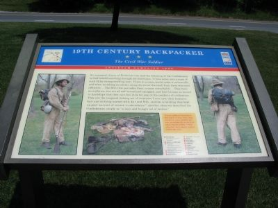 19th Century Backpacker -The Civil War Soldier Marker image. Click for full size.