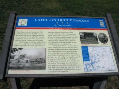 Catoctin Iron Furnace - No Time For War Marker image. Click for full size.