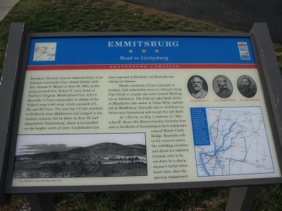 Emmitsburg - Road to Gettysburg Marker image. Click for full size.