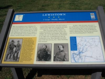 Lewistown - I Corps' Muddy March Marker image. Click for full size.