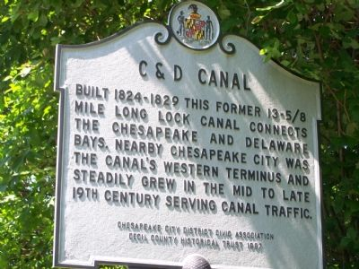 C & D Canal Marker image. Click for full size.