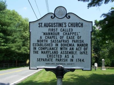 ST. AUGUSTINE'S CHURCH Marker image. Click for full size.