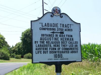 """Labadie Tract"" Marker image. Click for full size."