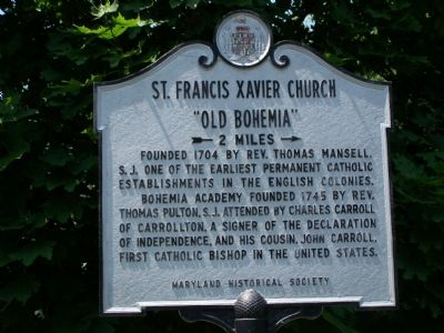 St. Francis Xavier Church Marker image. Click for full size.