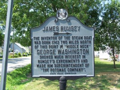 JAMES RUMSEY Marker image. Click for full size.