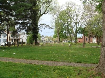 View of Old Methodist Cemetery from the Marker image. Click for full size.