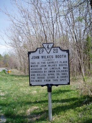 John Wilkes Booth Marker image. Click for full size.