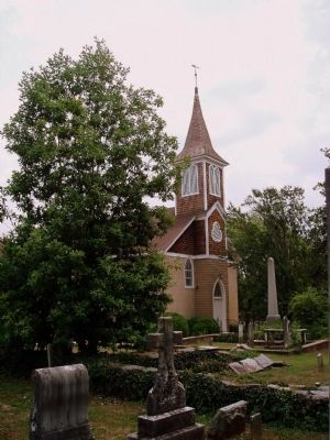 Presbyterian Church where William Hooper was Buried image. Click for full size.