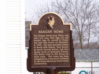 Reagan Home Marker image. Click for full size.