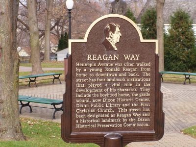 Reagan Way Marker image. Click for full size.