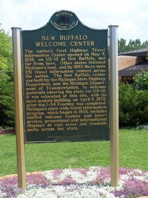 New Buffalo Welcome Center Marker image. Click for full size.