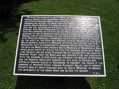 War Department Marker T. P. 1 image. Click for full size.