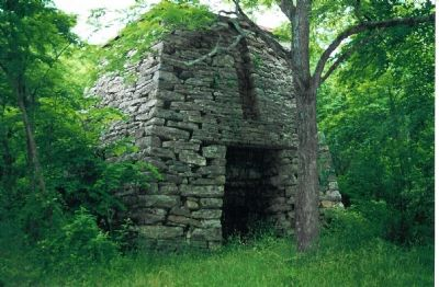 Remains of Catherine Furnace image. Click for full size.