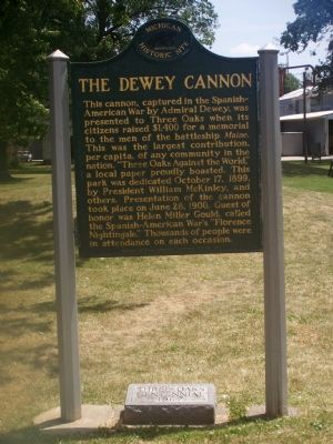 The Dewey Cannon Marker image. Click for full size.