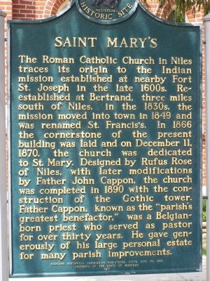 Saint Mary's Marker image. Click for full size.