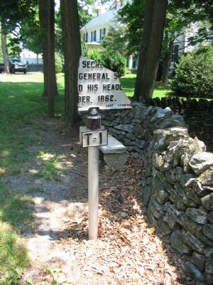 The Remains of the Original Carter Hall Marker image. Click for full size.