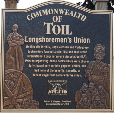 Commonwealth of Toil: Longshoremen's Union Marker image. Click for full size.