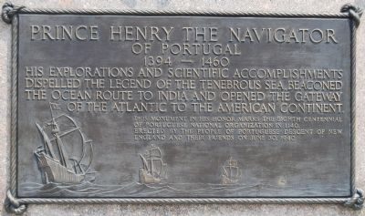 Prince Henry the Navigator of Portugal Marker image. Click for full size.