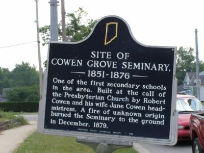 Site of Cowen Grove Seminary Marker image. Click for full size.