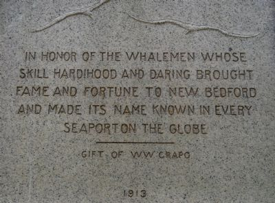 Inscription on back of the monument image. Click for full size.