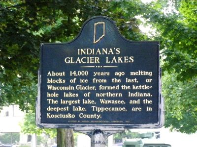 Indiana's Glacier Lakes Marker image. Click for full size.