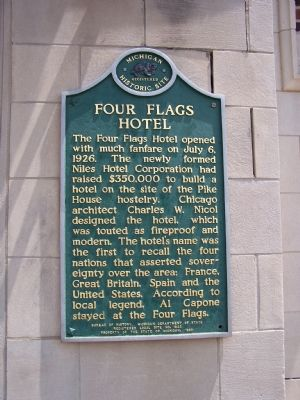 Four Flags Hotel Marker image. Click for full size.