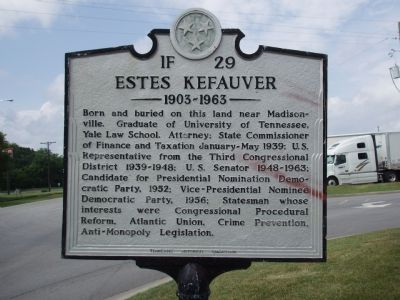 Estes Kefauver Marker image. Click for full size.