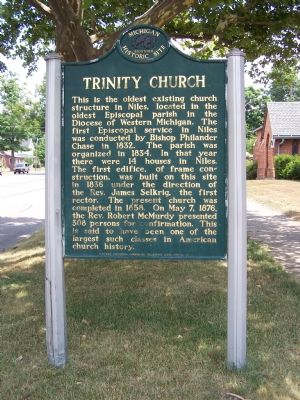 Trinity Church Marker image. Click for full size.