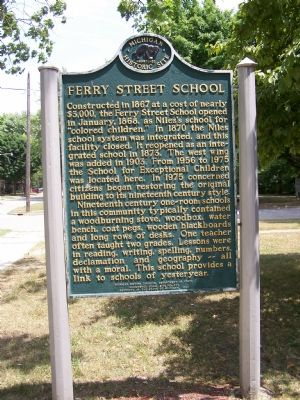 Ferry Street School Marker image. Click for full size.