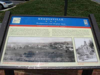 Keedysville Marker image. Click for full size.