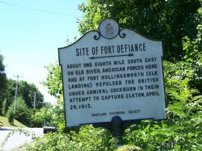Site of Fort Defiance Marker image. Click for full size.