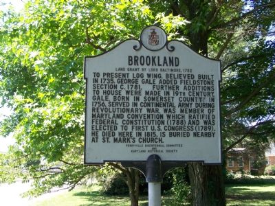 Brookland Land Grant by Lord Baltimore 1732 Marker image. Click for full size.