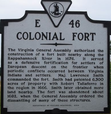 Colonial Fort Marker image. Click for full size.