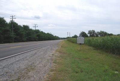 Marker along SR 2 (Tidewater Trail) image. Click for full size.