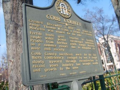 Cobb County Marker image. Click for full size.