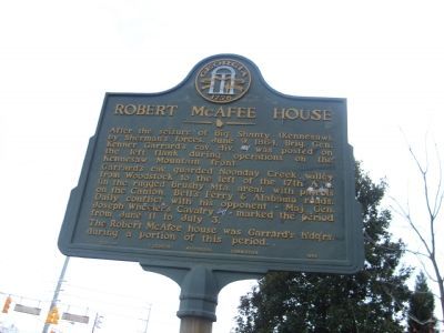 Robert McAfee House Marker image. Click for full size.
