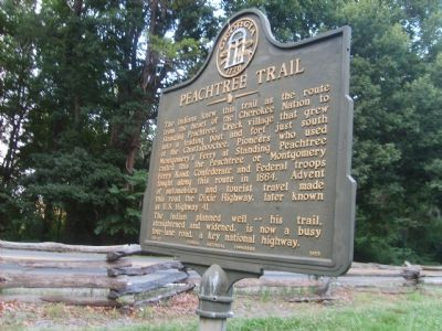 Peachtree Trail Marker image. Click for full size.