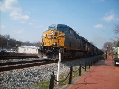 Marietta Station Walk and CSX Train image. Click for full size.