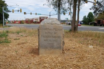 Stone marker: Stuart and Pelham image. Click for full size.