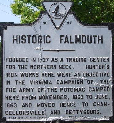 Historic Falmouth Marker image. Click for full size.