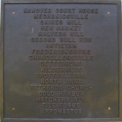 Marker on west side of monument image. Click for full size.